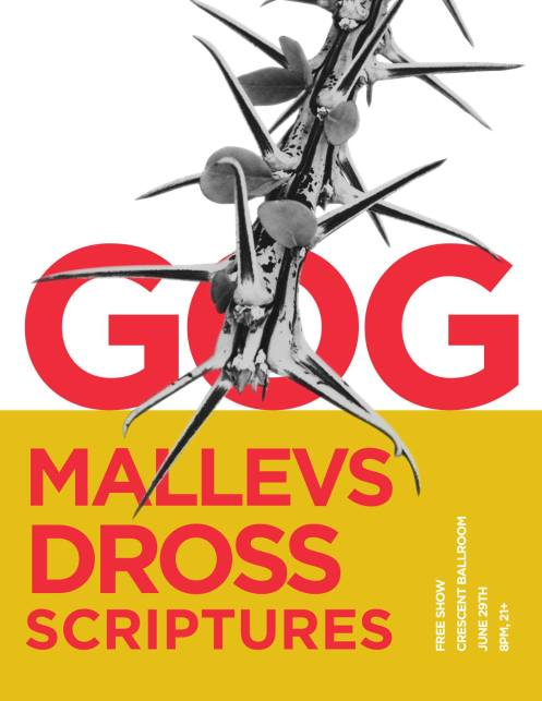 Gog album release flyer
